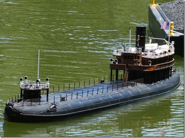 James Niemeyer's scratch built 1/48 scale model of a whaleback freighter.